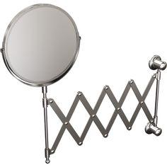 Azu Folding Wall Mirror Belfry Bathroom Luxury Bathroom Vanities, Contemporary Bathroom Mirrors, Master Bathroom Vanity, Master Bathroom Layout, Bathroom Mirror Lights, Window Mirror, Over The Door Mirror, Round Wall Mirror, Metal