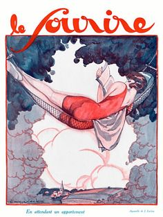 De la literatura algo más ligera. «Le Sourire», illustration por Julien Jacques Leclerc, 1926.