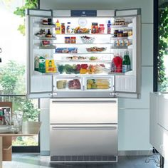 $6,800. Liebherr CS2062 19.6 cu. ft. Counter-Depth French Door Refrigerator with 3 Glass Shelves, 2 Freezer Drawers, LED Lighting, Automatic Ice Maker and Sabbath Mode