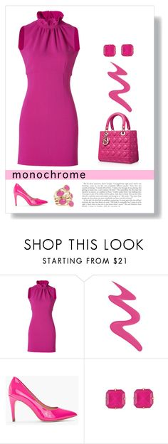 """In the Pink"" by patricia-dimmick ❤ liked on Polyvore featuring Emilio Pucci, Too Faced Cosmetics, Piel Leather, Diane Von Furstenberg, Loren Hope, Isharya, PinkDress and monochromepink"