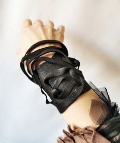 Goth interwoven black leather wrist cuff, Real leather structured wide bracelet, Art to wear armband, Sculptural cuff, Fashion big arm cuff Shopping Stores, Shopping Center, Online Shopping, Etsy Jewelry, Jewelry Art, Unique Jewelry, Real Leather, Black Leather, Group Boards