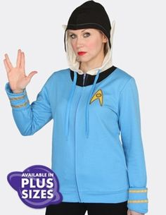 Make the logical choice with this Spock hoodie from Star Trek and Her Universe...complete with pointy ears on the hood!