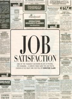 employment and job satisfaction The concept of job satisfaction, viewed through different lenses by various scholars, is defined differently greenberg and baron (2008), for instance, viewed.