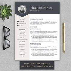 Resume Template   CV + Cover Letter @Graphicsauthor Pin for later! cover letter for resumes, covering letters for resume, covering letter for resumes