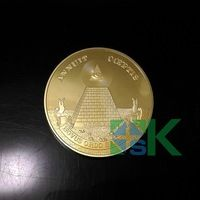 5pcs/lot, Freemasonry coin Masonic symbols series with all-seeing eye US Dollar Masonic coin with Pyramid gold plated coin