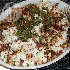 Arroz com nozes pecan @ allrecipes.com.br