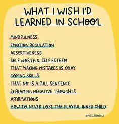 School Daze, Assertiveness, Coping Skills, Making Mistakes, Inner Child, Negative Thoughts, Its Okay, Self Esteem, Sentences