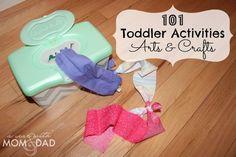 101 Toddler Activities ~ Arts & Crafts