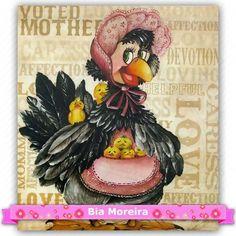 Tecido Estampado para Patchwork Bia Moreira - Eugalia Chicken Ladies (0,45x1,40) 100% Algodão - 45cm de comprimento - 1,40m de largura   Cada unidade refere-se a um pedaço de 45cm de comprimento por 1,40m de largura.   Fabricante:  Bia Moreira