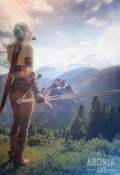 by AronjaArt Ciri, the Witcher 3 High Fantasy, Fantasy Rpg, Fantasy Artwork, Final Fantasy, The Witcher Wild Hunt, The Witcher Game, The Witcher Geralt, Witcher Art, Character Inspiration