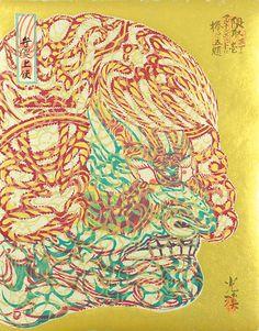 """Dedicated to Arcimboldo"" series / Kumadori by Tsuruya Kokei   〈アルチンボルドに捧ぐ五題〉の内 隈取 弦屋光溪"