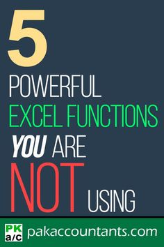 Five powerful Excel functions that many don't know can add to your skill many folds Free Excel tutorials | Excel functions and formula guide | Excel cheat sheets | Excel tips and tricks #Excel