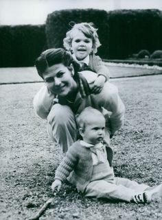 HM Queen Silvia with her children, QP Victoria & Prince Carl Philip
