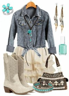 Country Girl Style Outfit with KickN Cowboy Boots