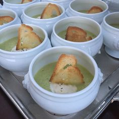 Cucumber gazpacho with stracchino cheese and  toasted Tuscan bread ! Summer soup ! Fresh and lite entree Menu