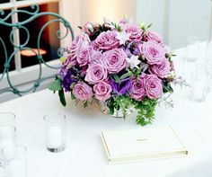 Guest book table decor.