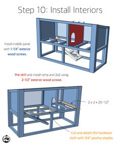 DIY Rabbit Hutch Plans - Step 10