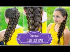Diagonal French Loop Braid | Braided Hairstyles #hairstyle #hairstyles #cutegirlshairstyles #CGH #frenchbraid #braid #CGHfrenchloopbraid