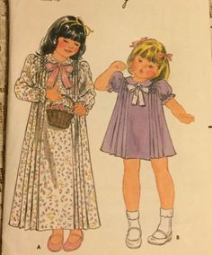 Butterick 3568 Uncut Toddler's Dress Size 4,  Loose-Fitting  Sewing Pattern