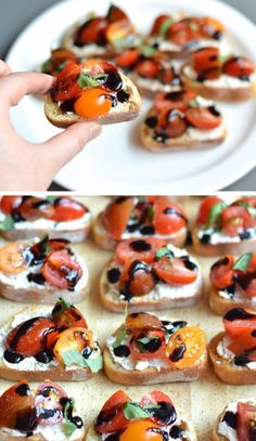Tomato & Goat Cheese Crostini | Click Pic for 22 DIY Summer Wedding Ideas on a Budget | DIY Garden Wedding Ideas on a Budget