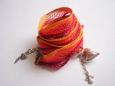 Knitting Wrap Bracelet or Necklace by accessory8 on Etsy, $18.00