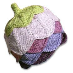 Free+Knitting+Patterns+Baby+Hats | KnitWhits - Knitting Patterns and Kits - Flore Petal Hat - Eggplant