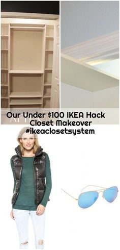 Our Under $100 IKEA Hack Closet Makeover #ikeaclosetsystem , Our Under $100 IKEA Hack Closet Makeover #ikeaclosetsystem... ,  #Closet #Hack #Ikea #ikeaclosetsystem #Makeover Ikea Closet System, Ikea Billy Bookcase Hack, Ikea Hack, Hacks, Tips