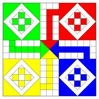 Ludo (board game) - Wikipedia, the free encyclopedia Printable Graph Paper, Printable Board Games, Free Printable, Free Games For Kids, Board Games For Kids, Game Boards, Call Center Games, Bord Games, Sorry Board Game