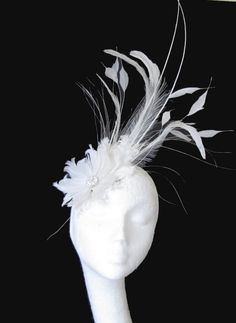 Cream Fascinator Hat for Weddings Races and by Hatsbycressida Cream Fascinator, Fascinator Hats, Fascinators, Fancy Hats, Cool Hats, Tea Party Attire, Derby Dress, Mad Hatter Hats, Kentucky Derby Hats