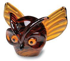 HANDBLOWN GLASS OWL