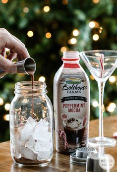 Pumpkin Spice and Peppermint Mocha Martinis | Inspired by Charm #IBCholiday #12days72ideas .... a little Godiva Chocolate Liqueur and some whipped cream vodka.