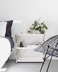 time of the aquarius: kekkilä´s plant shelf as bedside table