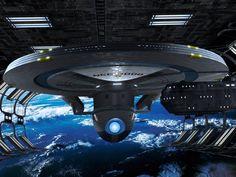 Star Trek Bridge Commander pic Excelsior class by Wileycoyote Background by QAuz Star Trek Vi, Star Wars, Star Trek Ships, Excelsior Class, Science Fiction, Star Trek Models, Star Trek Convention, Starfleet Ships, Nasa Photos