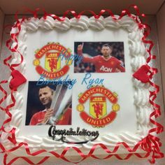 TWITTER: You can't have a birthday without cake. Here's what the club chef has just presented Giggsy. Enjoy, Ryan! #giggsy40