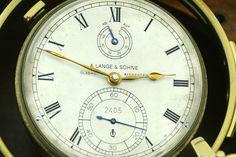 A. Lange & Söhne Marine Chronometer mit 2. Holzgehäuse, extrem selten, Kal. 100