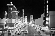 Las Vegas – Fremont St at Main – one intersection in 90 years. 1920s, 1932, 1940s, 1955, 1963, 1970s, 1986, 2000s.Photos: Las Vegas Then & Now you can get chips from here at www.all-chips.com