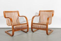 Pair of Lounge Chairs by Charlotte Perriand, 1950s