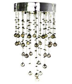 Elegante lampadario in cristallo per illuminare ingresso o salotto: Amazon.it: Illuminazione