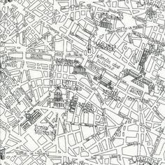 Timeless Treasures House Designer - Paris - City Map in White