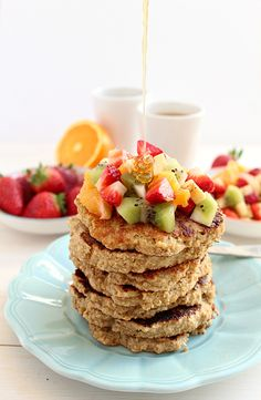 Oat Bran Protein Pancakes - Make ahead and freeze, for a healthy breakfast on the go! #ChooseDreams