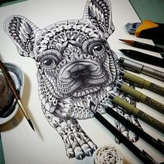 French bulldog piece