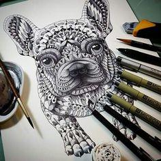 French bulldog piece