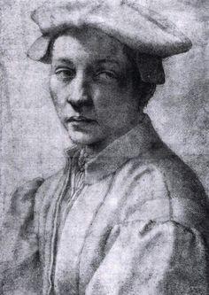 Andrea Quaratesi (1530-32) Μαύρη κιμωλία Βρετανικό Μουσείο στο Λονδίνο