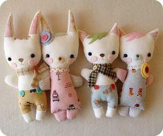 Hopscotch, Butterscotch, Kit Kat and Kitty Boo.  By Gingermelon