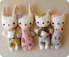cuddle stufflings by Gingermelon, via Flickr