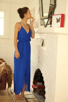 Officially our favorite Friday Frock so far - breezy cobalt perfection. And we'll take the house too - http://www.theblossomshed.blogspot.com/2012/02/friday-frock.html