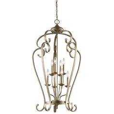 Buy the Kichler Sterling Gold Direct. Shop for the Kichler Sterling Gold Monroe Foyer Chandelier with 8 Lights - Wide and save. Foyer Chandelier, Lantern Chandelier, Foyer Lighting, Lantern Pendant, Pendant Lighting, Chandeliers, Lighting Ideas, X 23, Elegant Home Decor