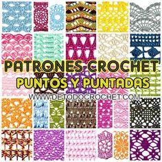 32 patrones de puntos y motivos para tejer con ganchillo