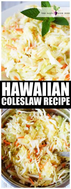 Hawaiian Coleslaw Recipe | Authentic and Sweet Coleslaw with Pineapple and Brown Sugar #sidedish #Hawaiian #sweet #recipe #sidedish #BBQ #party...