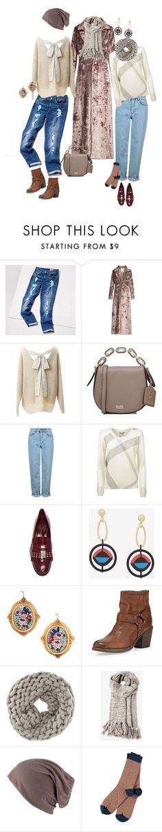 """""""Untitled #798"""" by clothes-wise ❤ liked on Polyvore featuring Tommy Hilfiger, Rosie Assoulin, Relaxfeel, Karl Lagerfeld, Topshop, Burberry, Alexander McQueen, BCBGMAXAZRIA, Frye and Toast"""